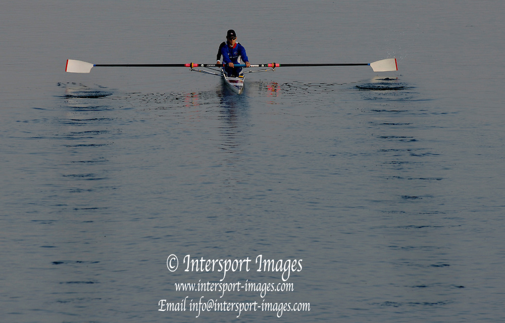 2005 FISA World Cup, Dorney Lake, Eton, ENGLAND, 27.05.05. [Friday am racing]  GBR LM2- leave the boating area for a training session..Photo  Peter Spurrier. .email images@intersport-images...[Mandatory Credit Peter Spurrier/ Intersport Images] , Rowing Courses, Dorney Lake, Eton. ENGLAND