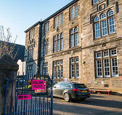 Leith, Edinburgh, Scotland, United Kingdom, 11 April 2019. Leith Walk Council By-Election:  One of the polling stations at Lorne Primary School. The election is taking place as a result of the resignation of Councillor Marion Donaldson. The election fields 11 candidates, including the first ever candidate for the For Britain Movement in Scotland, Paul Stirling.  The For Britain Movement was founded by former UKIP leadership candidate Anne Marie Waters in March 2018.  Sally Anderson/ Edinburgh Elite Media