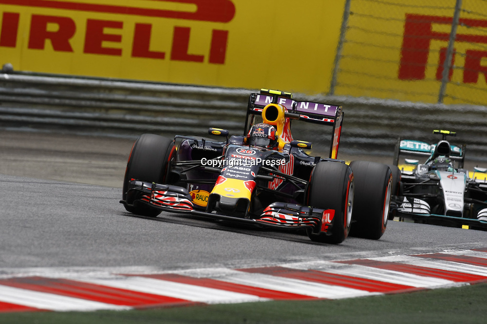 &copy; Photo4 / LaPresse<br /> 20/06/2015 Spielberg, Austria<br /> Sport <br /> Grand Prix Formula One Austria 2015<br /> In the pic: Qualifying, Daniil Kvyat (RUS) Red Bull Racing RB11