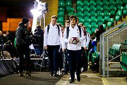 Sam Maunder of England U20 leads his side into the ground - Rogan/JMP - 21/02/2020 - Franklin's Gardens - Northampton, England - England U20 v Ireland U20 - Under 20 Six Nations.
