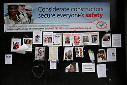 UK ENGLAND LONDON 14JUL17 - Messages for victims of the Grenfell Tower fire in north Kensington, west London, one month after the disaster that left over 80 people dead.<br /> <br /> jre/Photo by Jiri Rezac<br /> <br /> &copy; Jiri Rezac 2017