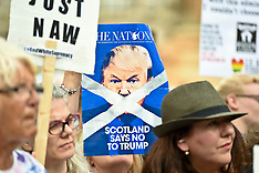 Protest against Donald Trump. Glasgow, 13 July 2018