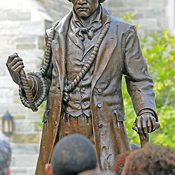 Photos by Tom Kelly IV<br /> The Frederick Douglass statue was unveiled and dedicated at West Chester University, Tuesday afternoon October 1, 2013.