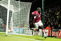 Photo: Leigh Quinnell/Sportsbeat Images.<br /> Watford v Bristol City. Coca Cola Championship. 01/12/2007. Bristol Citys Enoch Showunmi celebrates his goal.
