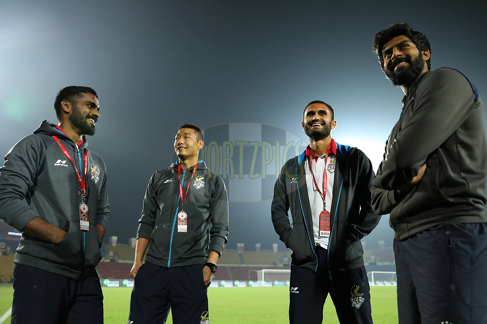 ATK FC players during match 45 of the Hero Indian Super League between NorthEast United FC and ATK  held at the Indira Gandhi Athletic Stadium, Guwahati India on the 12th January 2018<br /> <br /> Photo by: Arjun Singh  / ISL / SPORTZPICS