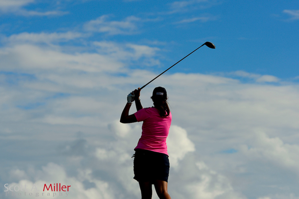 Giulia Molinaro during the final round of the Symetra Tour Championship at LPGA International on Sept. 29, 2013 in Daytona Beach, Florida. <br /> <br /> <br /> &copy;2013 Scott A. Miller