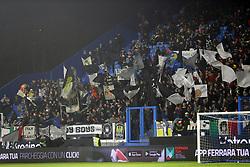 """Foto /Filippo Rubin<br /> 26/12/2018 Ferrara (Italia)<br /> Sport Calcio<br /> Spal - Udinese - Campionato di calcio Serie A 2018/2019 - Stadio """"Paolo Mazza""""<br /> Nella foto: I TIFOSI DELL'UDINESE<br /> <br /> Photo /Filippo Rubin<br /> December 26, 2018 Ferrara (Italy)<br /> Sport Soccer<br /> Spal vs Udinese - Italian Football Championship League A 2018/2019 - """"Paolo Mazza"""" Stadium <br /> In the pic: UDINESE SUPPORTERS"""