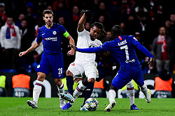 Renato Sanches of Lille is marked by Ngolo Kante of Chelsea - Mandatory by-line: Ryan Hiscott/JMP - 10/12/2019 - FOOTBALL - Stamford Bridge - London, England - Chelsea v Lille - UEFA Champions League group stage