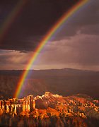 Rainbow over Bryce formations, Bryce Canyon National Park, Utah  1987