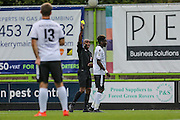Bromley's Blair Turgott(17) receives a yellow card during the Vanarama National League match between Forest Green Rovers and Bromley FC at the New Lawn, Forest Green, United Kingdom on 17 September 2016. Photo by Shane Healey.