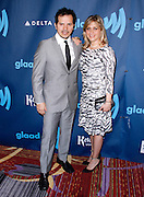 John Leguizamo and Justine Leguizamo attend the 24th Annual GLAAD Media Awards at the Marriott Hotel in New York City, New York on March 16, 2013.