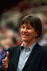 February 24, 2011; Stanford, CA, USA;  Stanford Cardinal head coach Tara VanDerveer before the game against the Oregon St. Beavers at Maples Pavilion.