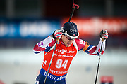 &Ouml;STERSUND, SVERIGE - 2017-12-02: Tarjei Boe under herrarnas sprint t&auml;vling under IBU World Cup Skidskytte p&aring; &Ouml;stersunds Skidstadion den 2 december 2017 i &Ouml;stersund, Sverige.<br /> Foto: Johan Axelsson/Ombrello<br /> ***BETALBILD***