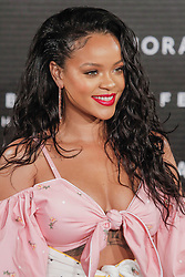 Barbadian singer and actress Rihanna promotes her new makeup line Fenty Beauty By Rihanna at a beauty store in Madrid, Spain, September 23, 2017. Photo by Archie Andrews/ABACAPRESS.COM