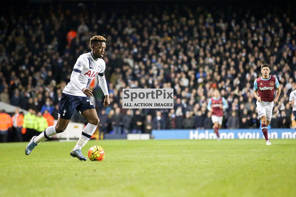 Josh Onomah on the ball During Tottenham Hotspur vs West Ham United on Sunday the 22nd November 2015.