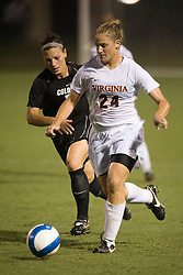 Virginia Cavaliers D Colleen Flanagan (24)..The Virginia Cavaliers hosted the Colorado  Buffalos in the first game of the 2007 Nike Soccer Classic held at Klockner Stadium in Charlottesville, VA on August 14, 2007.
