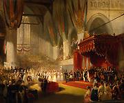 William II (Willem Frederik George Lodewijk van Oranje-Nassau) (6 December 1792 – 17 March 1849) was King of the Netherlands, Grand Duke of Luxembourg, and Duke of Limburg from 7 October 1840 until his death in 1849. The Coronation of King William II of the Netherlands, in the Nieuwe Kerk, Amsterdam  November 1840 By Nicolaas Pieneman