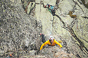 Lifestyle reportage of a day living and climbing in Victory Refuge st Galayos, Spain