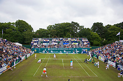Liverpool, England - Saturday, June 16, 2007: The Legends Doubles in action on day five of the Liverpool International Tennis Tournament at Calderstones Park. For more information visit www.liverpooltennis.co.uk. (Pic by David Rawcliffe/Propaganda)