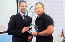 Aleksander Ceferin, president of NZS  and … of Zavrc during draw of Prva liga Telekom Slovenije and Slovenian Cup 2015 organised by Football Association of Slovenia NZS on June 30, 2014 in Kongresni centre, Brdo pri Kranju, Slovenia. Photo By Vid Ponikvar / Sportida