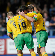 Hartlepool - Saturday August 29th, 2009: Simon Lappin of Norwich City (L) congratulates goalscorer Michael Nelson during the Coca Cola League One match at Victoria Park, Hartlepool. (Pic by Jed Wee/Focus Images)..