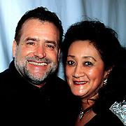 Nieuwjaarsreceptie Strengholt, George Baker en vrouw Blanche