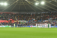 Football - 2018 / 2019 Sky Bet EFL Championship - Swansea City vs. Millwall<br /> <br /> Both teams stand for a minutes silence in memory of Sala, at The Liberty Stadium.<br /> <br /> COLORSPORT/WINSTON BYNORTH