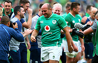 Rugby Union - 2019 pre-Rugby World Cup warm-up (Guinness Summer Series) - Ireland vs. Wales<br /> <br /> Rory Best (c) (Ireland) leaves the pitch at the end of the game at The Aviva Stadium.<br /> <br /> COLORSPORT/KEN SUTTON