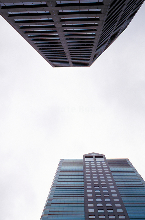 upward view of two office buildings