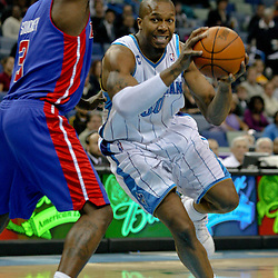 Dec 16, 2009; New Orleans, LA, USA;  New Orleans Hornets forward David West (30) drives past Detroit Pistons guard Rodney Stuckey (3) during the first half at the New Orleans Arena. Mandatory Credit: Derick E. Hingle-US PRESSWIRE