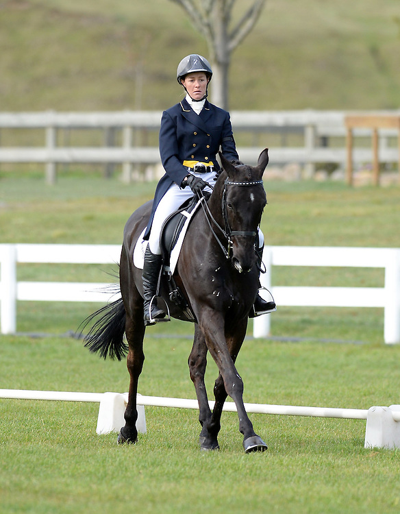 Abby Lawrence rides Pseudonym in the FEI 3 * Dressage Phase, NEC Spring Horse Trial, National Equestrian Centre, Taupo, Saturday, October 11, 2014. Credit:  SNPA /Sarah Alderman