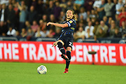 Luke Ayling (2)  of Leeds United during the EFL Sky Bet Championship match between Swansea City and Leeds United at the Liberty Stadium, Swansea, Wales on 21 August 2018.