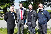Teagasc Director General Prof Gerry Boyle   with IFA President  Joe Healy and Aidan Crean McDonald's ire and Niall Browne Dawn Meats  at the Newford Herd Open Day at Teagasc Athenry, Mellows Campus.  Photo:Andrew Downes, xposure.