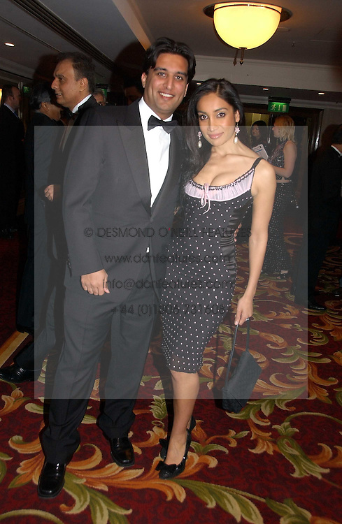 Managing director of Sunrise radio TONY LIT and actress SOFIA HAYAT at the 10th Anniversary Asian Business Awards 2006 at the London Grosvenor Hotel Park Lane, London on 19th April 2006.<br />