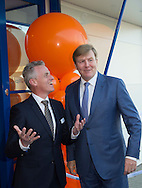 26-1-2017 ZUTPHEN - King Willem Alexander opens Thursday, January 26 in Zutphen, the construction of the new dairy laboratory Qlip. The company focuses on quality in national and international dairy chain in the areas of food safety and quality, food-experience and sustainability. Copyright ROBIN UTRECHT<br />