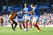 Portsmouth's Michael Doyle defending during the Sky Bet League 2 match between Portsmouth and Barnet at Fratton Park, Portsmouth, England on 12 September 2015. Photo by David Charbit.