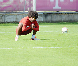 23.08.2015, Saebener Strasse, Muenchen, GER, 1. FBL, FC Bayern Muenchen, Training, im Bild vl. Dante ( FC Bayern Muenchen ) // during a Trainingssession of German Bundesliga Club FC Bayern Munich at the Saebener Strasse in Muenchen, Germany on 2015/08/23. EXPA Pictures © 2015, PhotoCredit: EXPA/ Eibner-Pressefoto/ Vallejos<br /> <br /> *****ATTENTION - OUT of GER*****