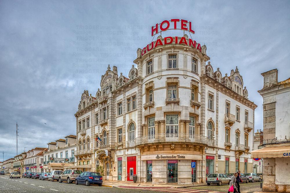 Former Hotel Guadiana, Vila Real de Santo Antonio, Algarve, Portugal.