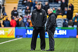 Worcester Warriors Director of Rugby Alan Solomons and Exeter Chiefs head coach Rob Baxter enjoy a chat during the pre match warm up - Mandatory by-line: Craig Thomas/JMP - 27/01/2018 - RUGBY - Sixways Stadium - Worcester, England - Worcester Warriors v Exeter Chiefs - Anglo Welsh Cup