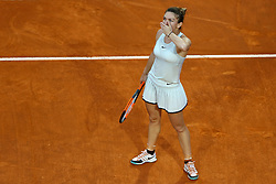May 19, 2018 - Rome, Italy - Simona Halep (ROU) celebrates at Foro Italico in Rome, Italy during Tennis WTA Internazionali d'Italia BNL semi-final, on May 19, 2018. (Credit Image: © Matteo Ciambelli/NurPhoto via ZUMA Press)