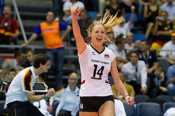 01.10.2011, Hala Pionir, Belgrad, SRB, Europameisterschaft Volleyball Frauen, Halbfinale, Deutschland (GER) vs. Italien (ITA), im Bild Giovanni Guidetti (Headcoach GER) // during the 2011 CEV European Championship, Semifinal at Hala Pionir, Belgrade, SRB, Germany vs Italy, 2011-10-01. EXPA Pictures © 2011, PhotoCredit: EXPA/ nph/  Kurth       ****** out of GER / CRO  / BEL ******