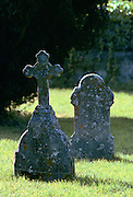 Two Gravestones, Christian Graveyard Shaftesbury, United Kingdom
