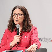 03 June 2015 - Belgium - Brussels - European Development Days - EDD - Trade - Trade for inclusive and sustainable growth - Cecilia Malmstrom , EU Commissioner for Trade © European Union