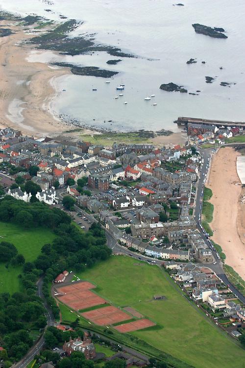 AAP3BH Aerial shot of North Berwick, East Lothian, Scotland