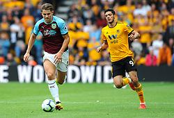 Raul Jimenez of Wolverhampton Wanderers chases down James Tarkowski of Burnley- Mandatory by-line: Nizaam Jones/JMP- 16/09/2018 - FOOTBALL - Molineux - Wolverhampton, England - Wolverhampton Wanderers v Burnley - Premier League