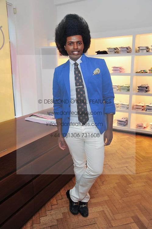 PRINCE CASSIUS at a party to launch a range of SpongeBob SquarePants suits and accessories designed by Richard James in partnership with Nickelodeon held at Richard James, 29 Savile Row, London W1 on 11th May 2011.