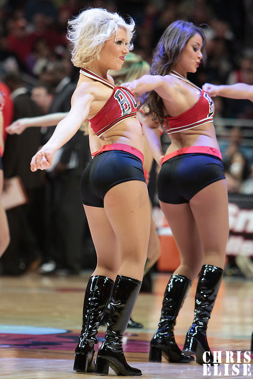 13 November 2010: Luvabull Carissa Frame performs during the Chicago Bulls 103-96 victory over the Washington Wizards at the United Center, in Chicago, Illinois, USA.