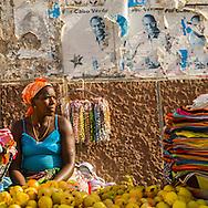 Cape Verde. central market in Praia  Sal Island     / Cap-Vert:  le marche central de Praia  ile de Praia     /02