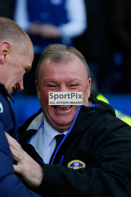Steve Evans in good mood before Sheffield Wednesday v Leeds United, SkyBet Championship, Saturday 16th January, Hilsborough, Sheffield