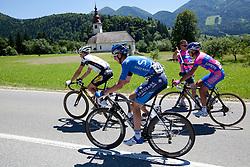 VAN HECKE Preben of Topsport Vlaanderen, TANNER David of Saxo Bank and BUTS Vitaly of Lampre-ISD during 3rd Stage (219 km) at 19th Tour de Slovenie 2012, on June 16, 2012, in Bohinjska Bistrica, Slovenia. (Photo by Matic Klansek Velej / Sportida.com)
